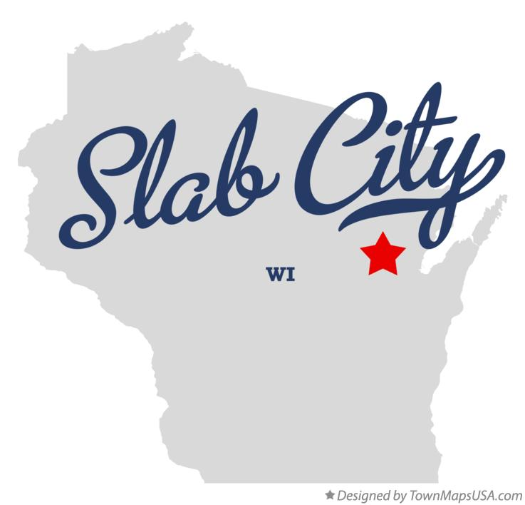 Map of Slab City Wisconsin WI