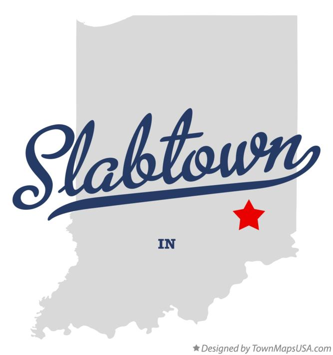 Map of Slabtown Indiana IN