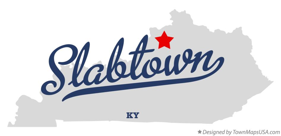 Map of Slabtown Kentucky KY