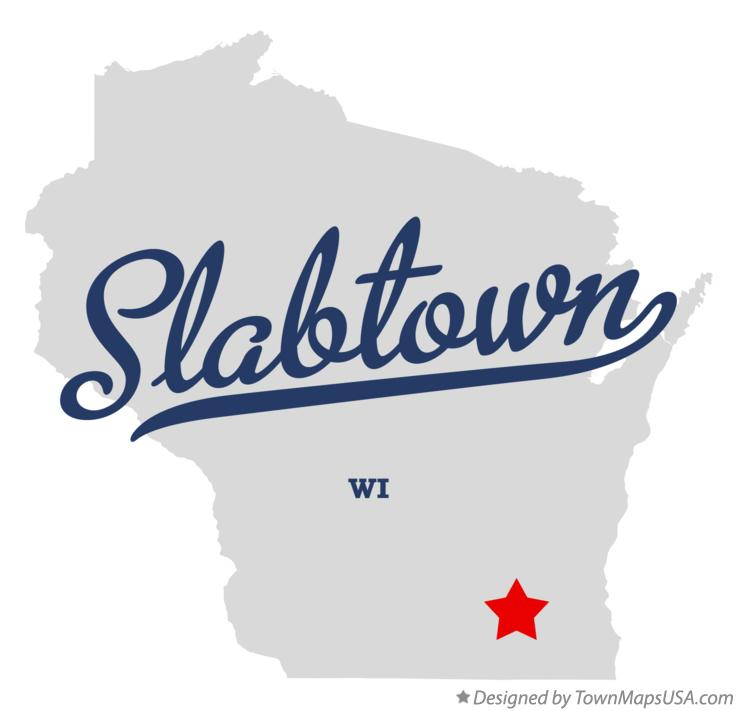 Map of Slabtown Wisconsin WI