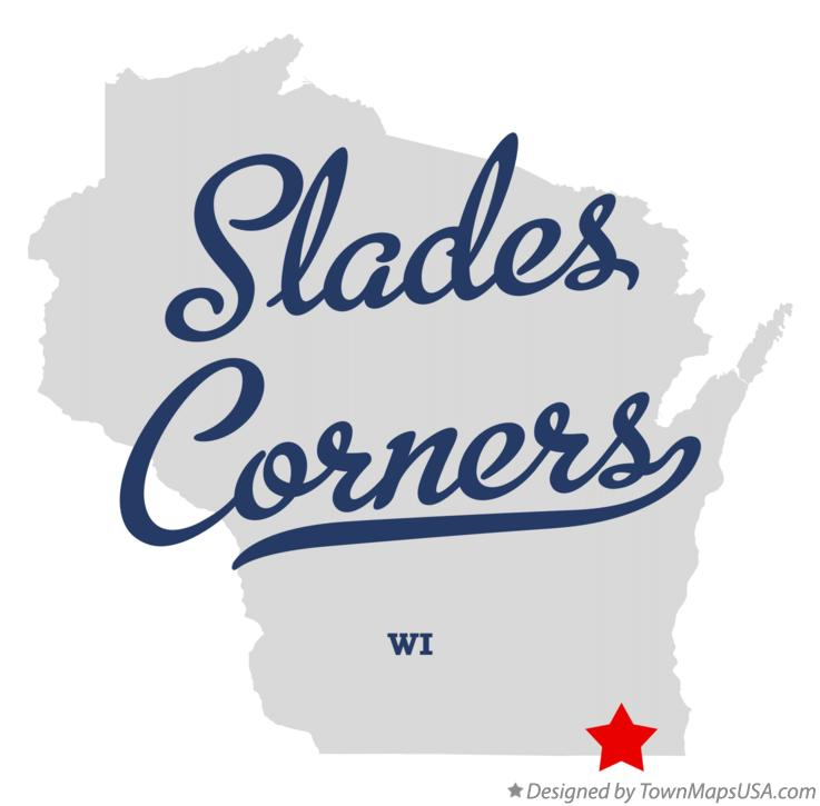 Map of Slades Corners Wisconsin WI