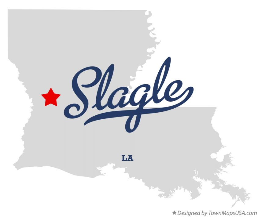 Map of Slagle Louisiana LA