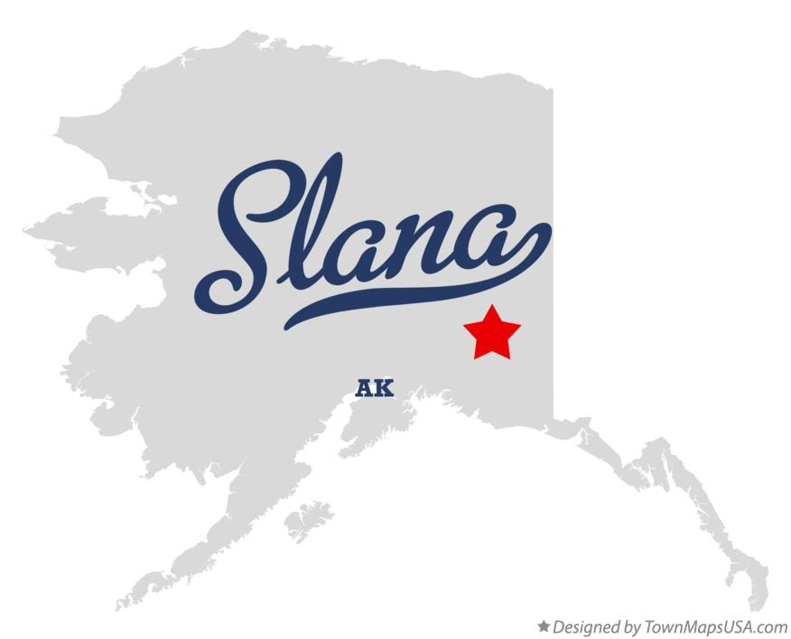 Map of Slana Alaska AK