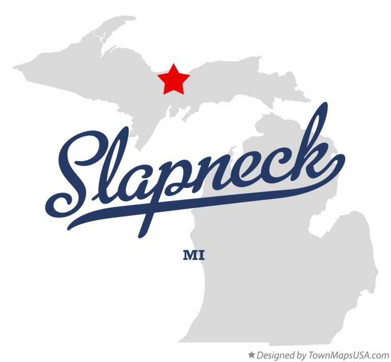 Map of Slapneck Michigan MI