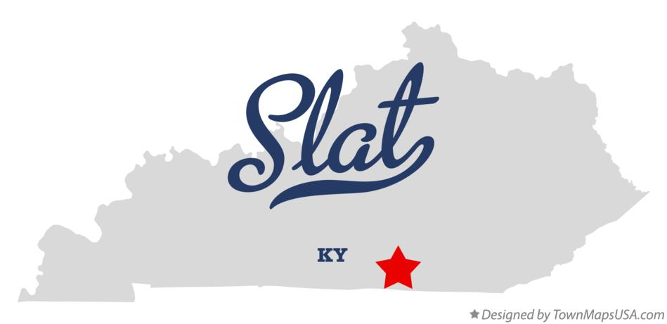 Map of Slat Kentucky KY