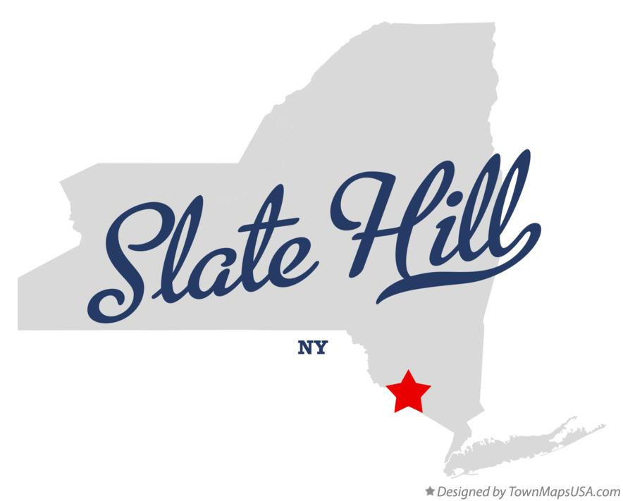 Map of Slate Hill New York NY