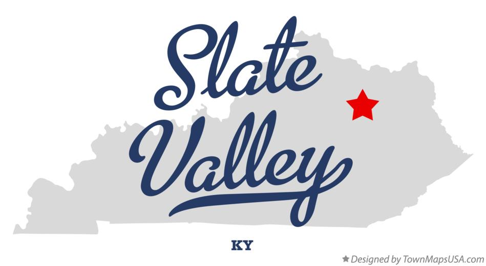 Map of Slate Valley Kentucky KY