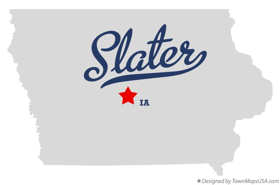 Map of Slater Iowa IA