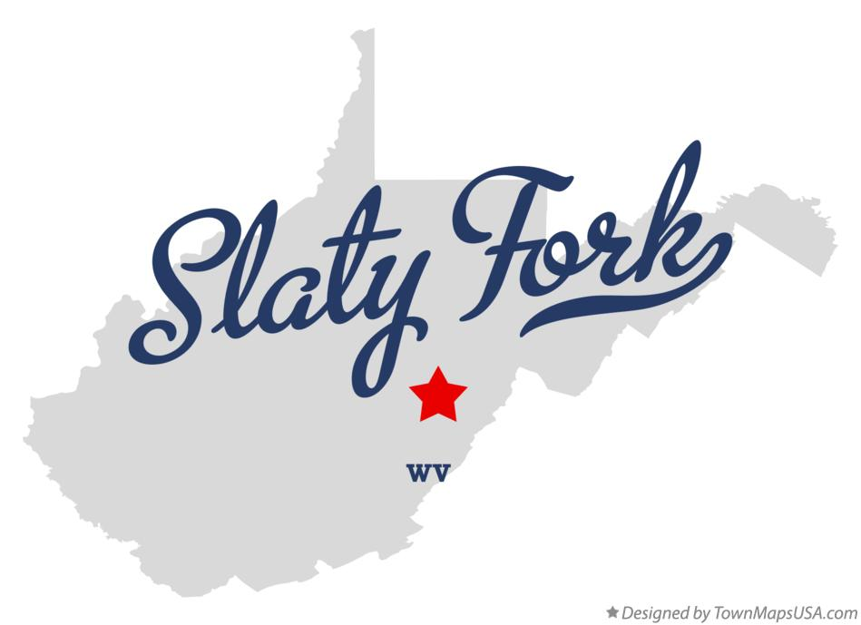 Map of Slaty Fork West Virginia WV