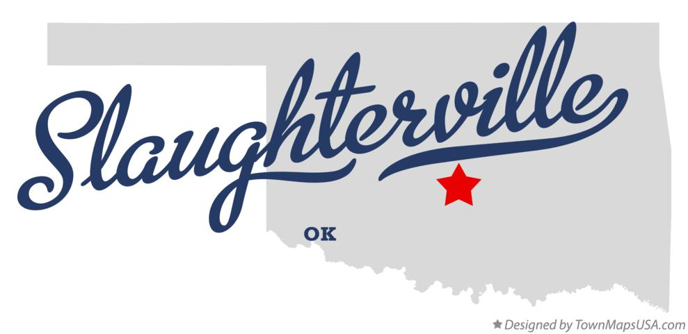 Map of Slaughterville Oklahoma OK