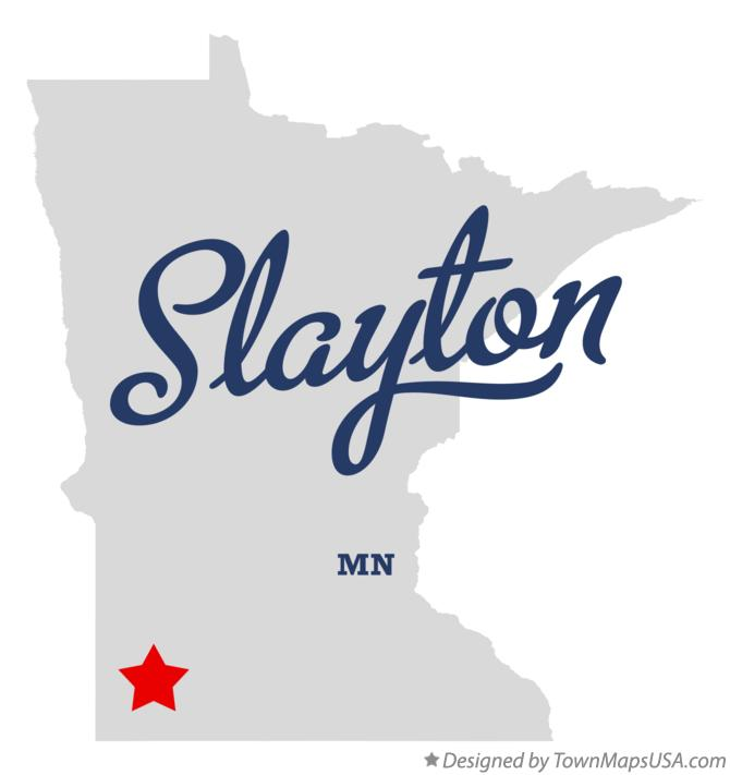 Map of Slayton Minnesota MN