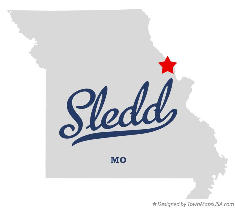 Map of Sledd Missouri MO