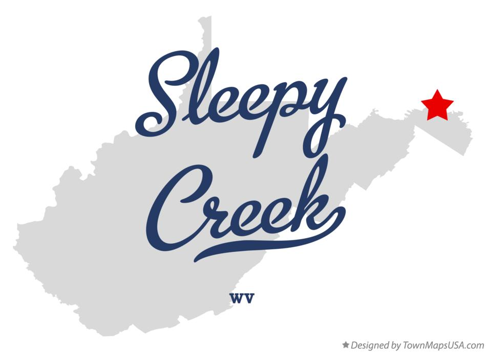Map of Sleepy Creek West Virginia WV