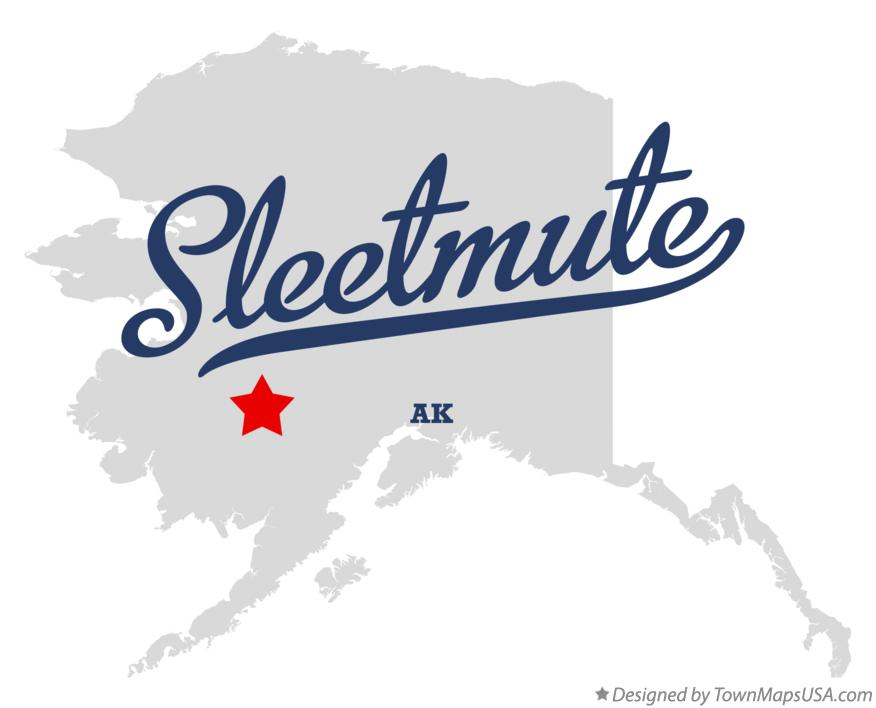 Map of Sleetmute Alaska AK