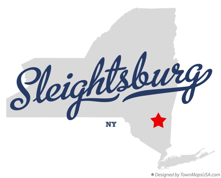 Map of Sleightsburg New York NY