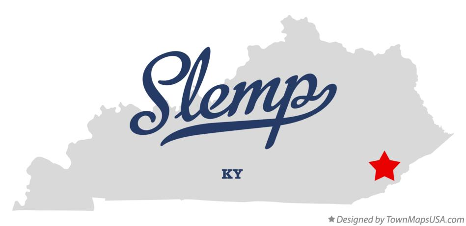 Map of Slemp Kentucky KY