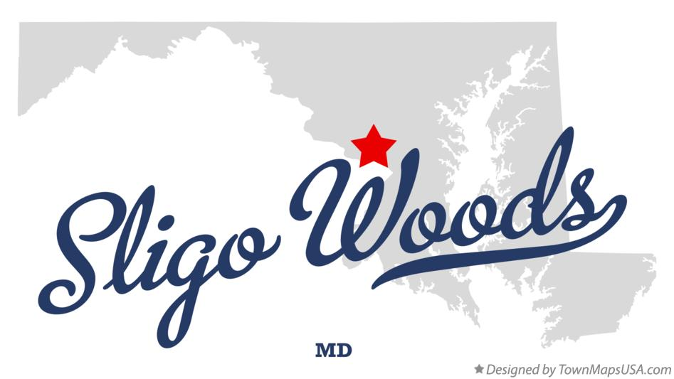 Map of Sligo Woods Maryland MD