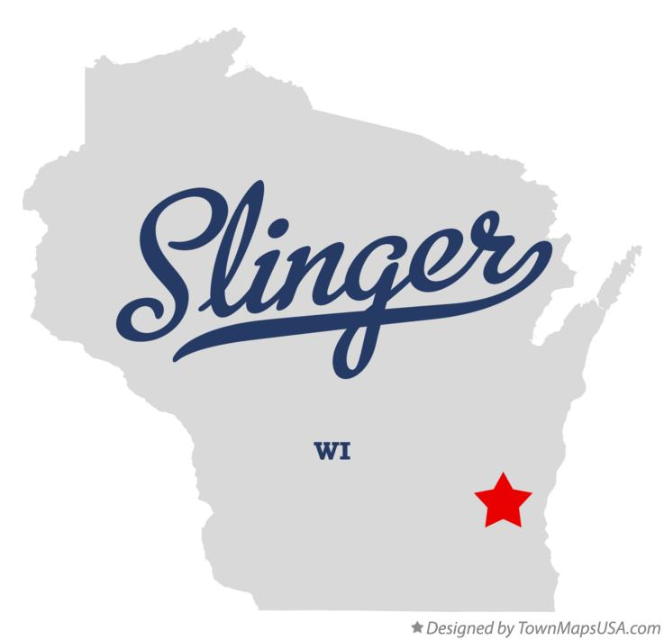 Map of Slinger Wisconsin WI