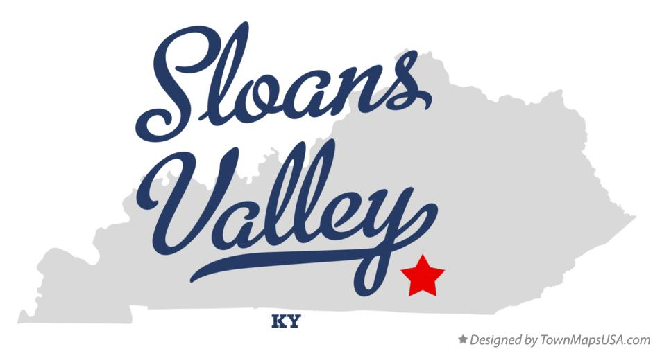 Map of Sloans Valley Kentucky KY