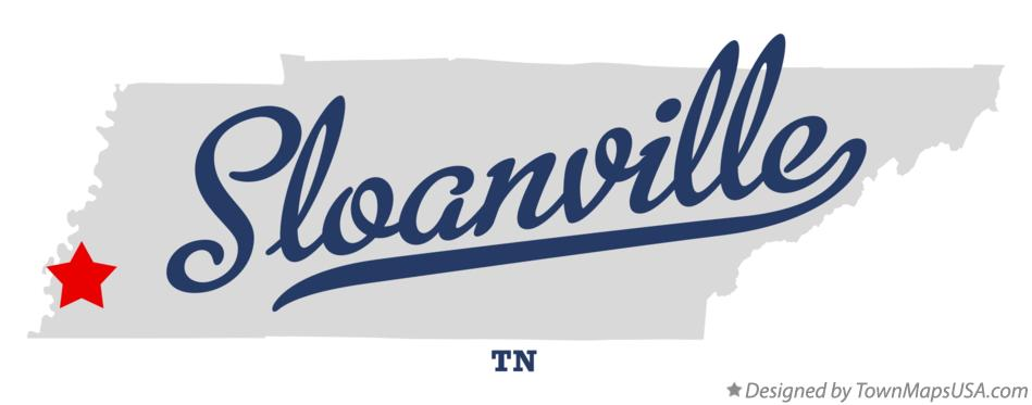 Map of Sloanville Tennessee TN