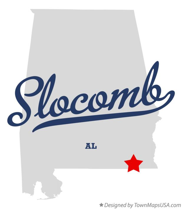 Map of Slocomb Alabama AL