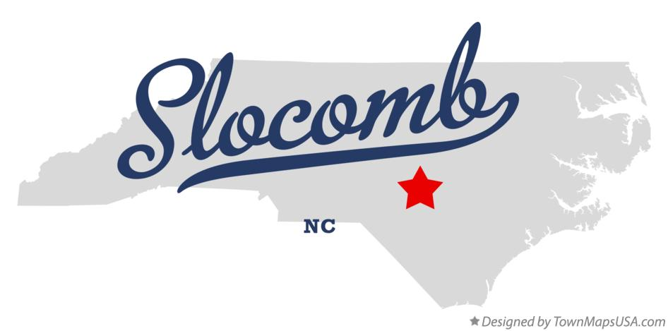 Map of Slocomb North Carolina NC
