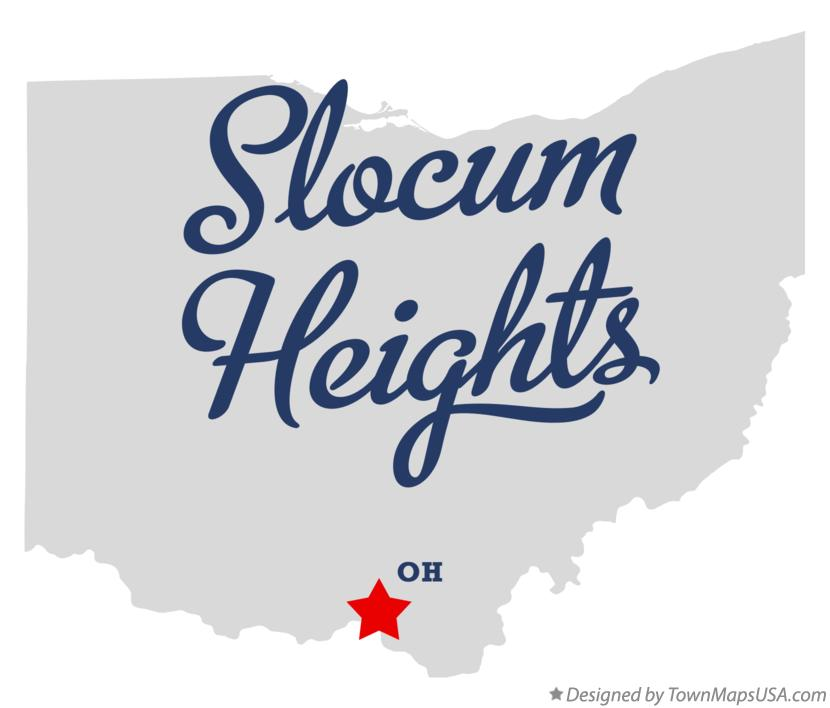 Map of Slocum Heights Ohio OH