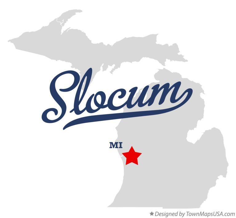 Map of Slocum Michigan MI