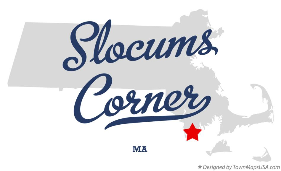 Map of Slocums Corner Massachusetts MA