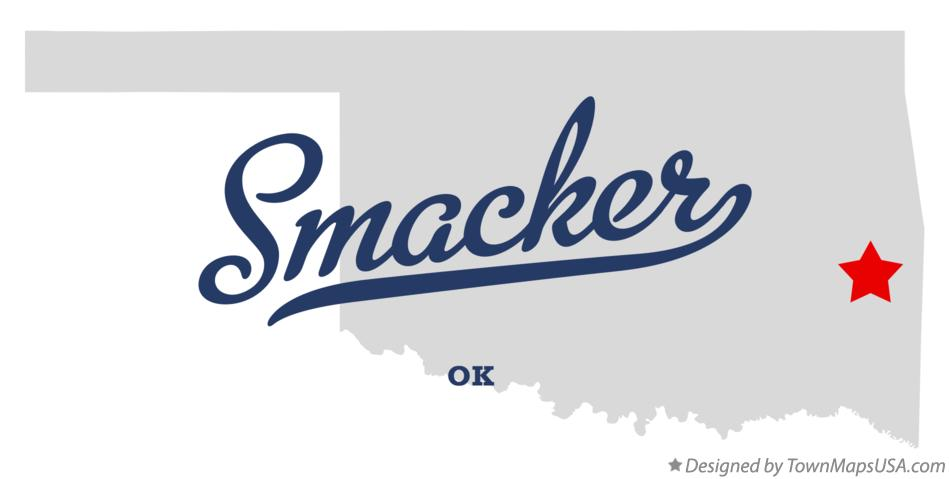 Map of Smacker Oklahoma OK