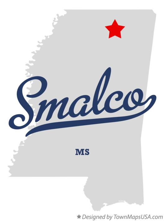 Map of Smalco Mississippi MS