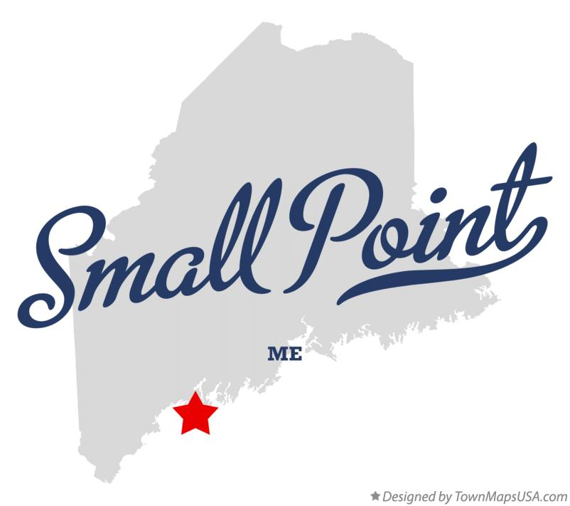 Map of Small Point Maine ME