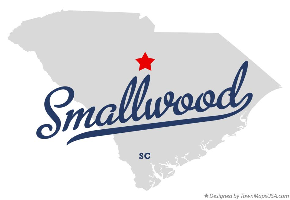 Map of Smallwood South Carolina SC