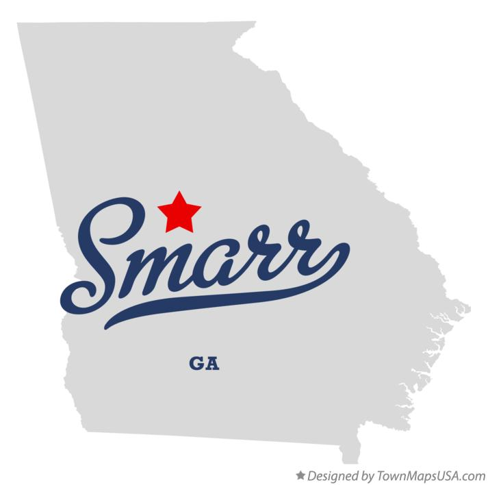 Map of Smarr Georgia GA