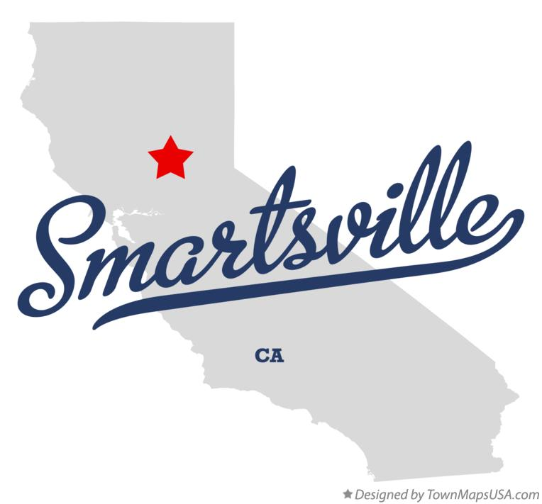 Map of Smartsville California CA