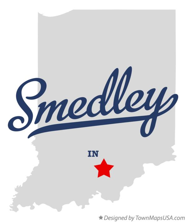 Map of Smedley Indiana IN
