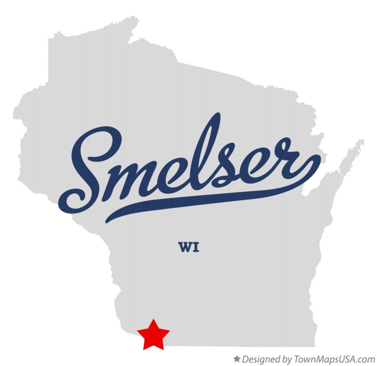 Map of Smelser Wisconsin WI