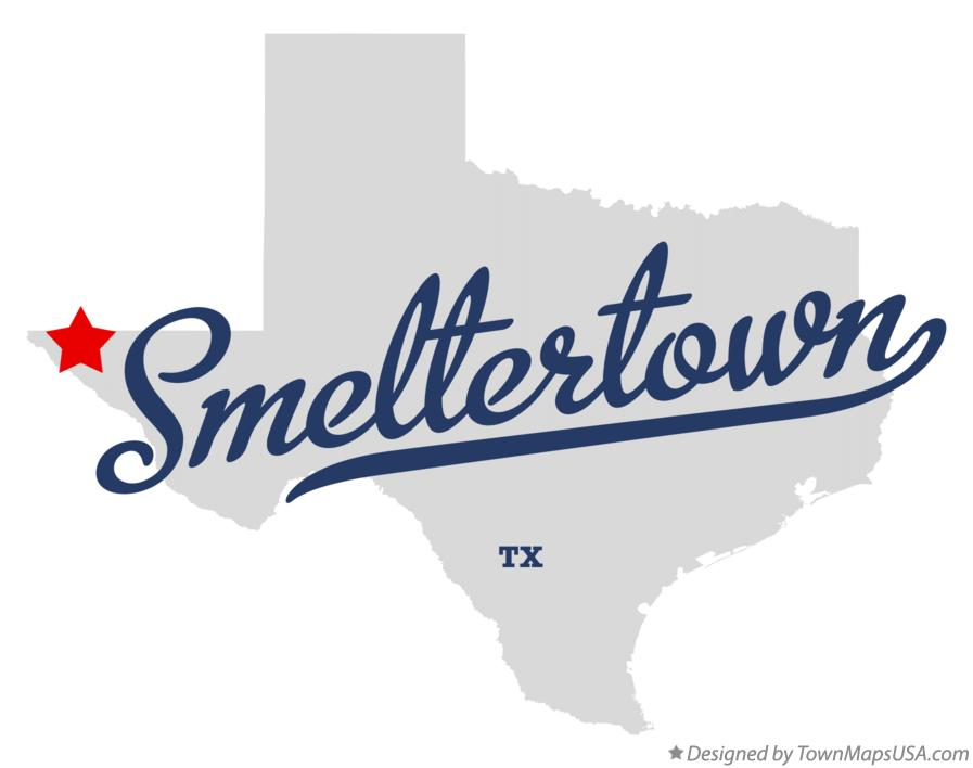 Map of Smeltertown Texas TX