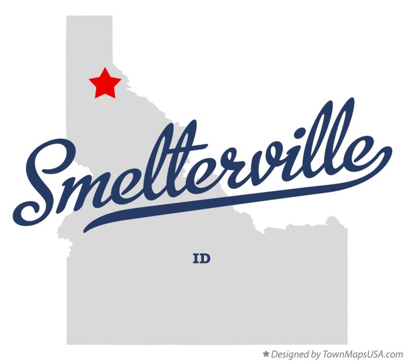 Map of Smelterville Idaho ID
