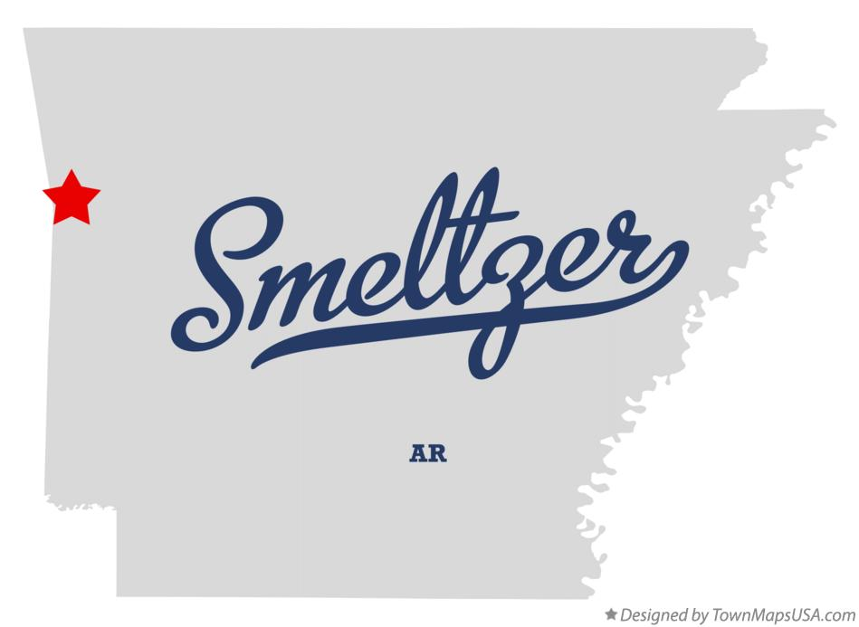 Map of Smeltzer Arkansas AR