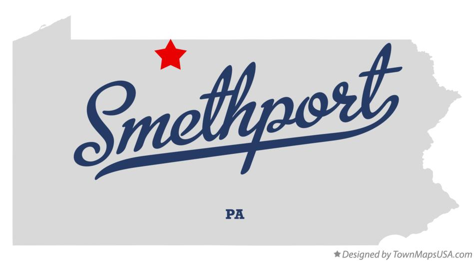 Map of Smethport Pennsylvania PA
