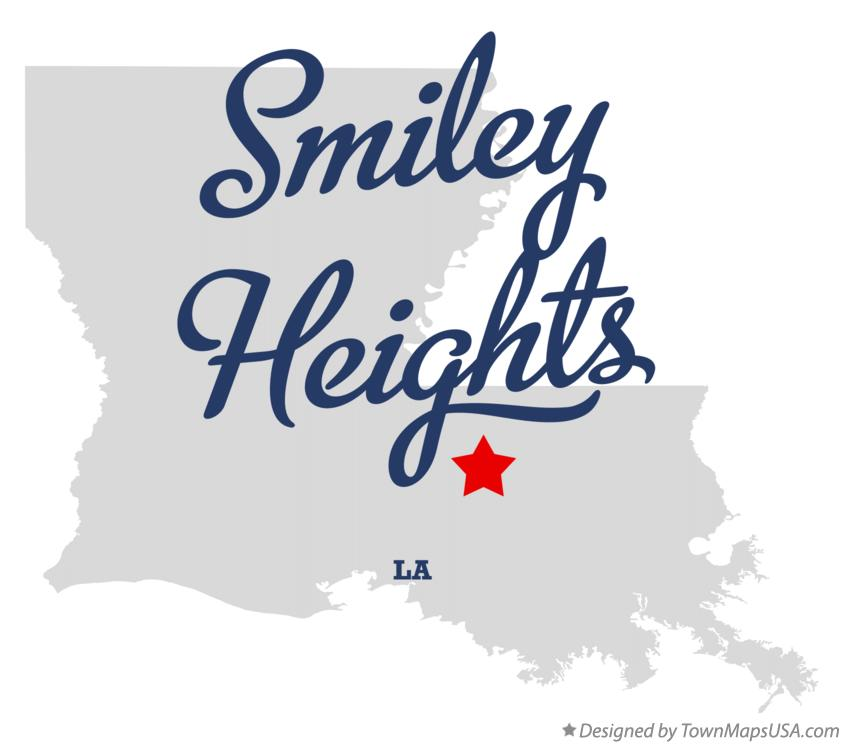 Map of Smiley Heights Louisiana LA