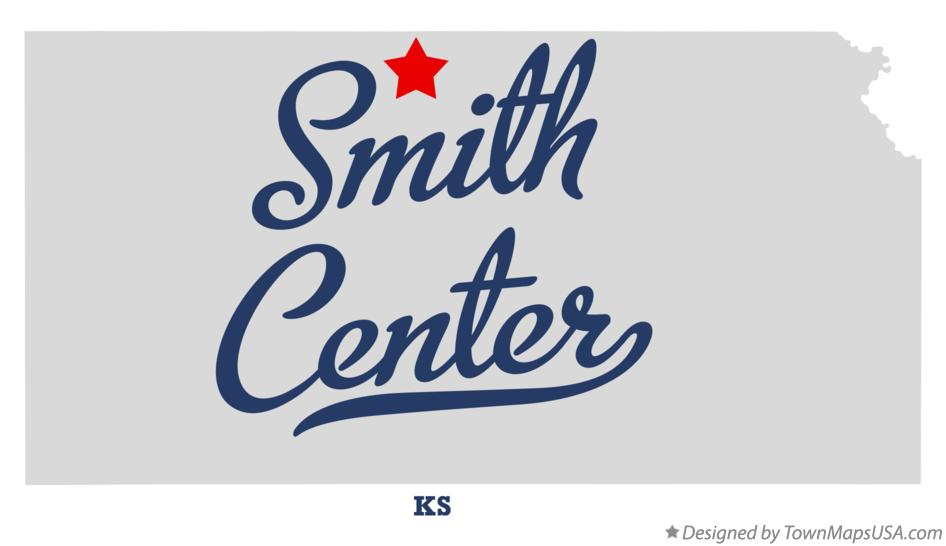 Map of Smith Center Kansas KS