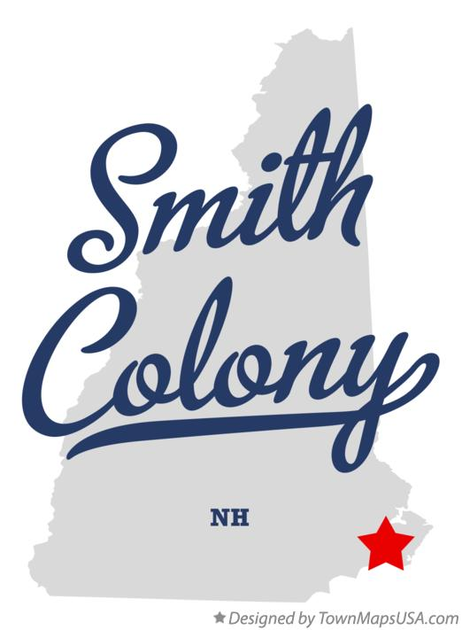 Map of Smith Colony New Hampshire NH