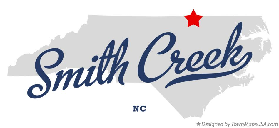 Map of Smith Creek North Carolina NC