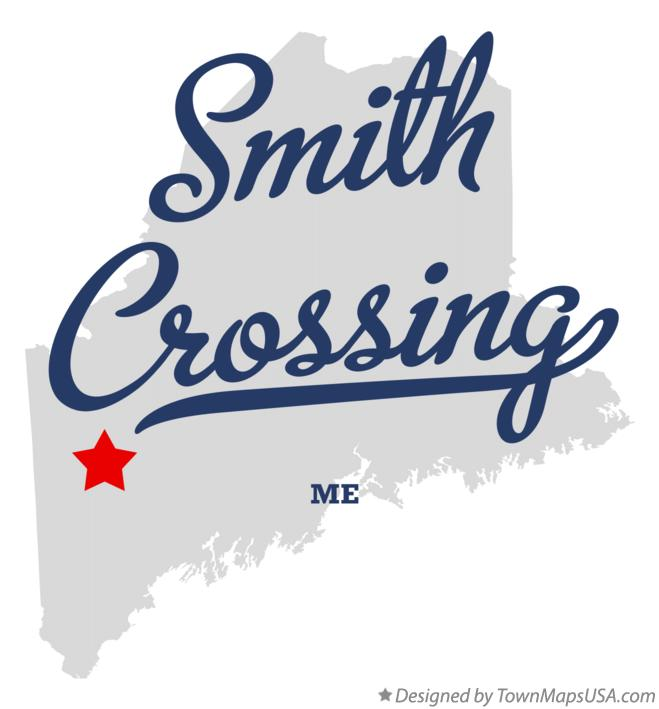 Map of Smith Crossing Maine ME
