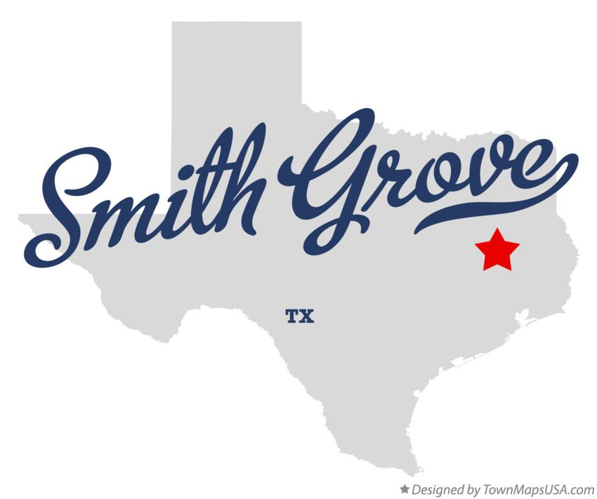 Map of Smith Grove Texas TX