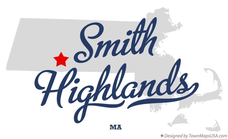 Map of Smith Highlands Massachusetts MA