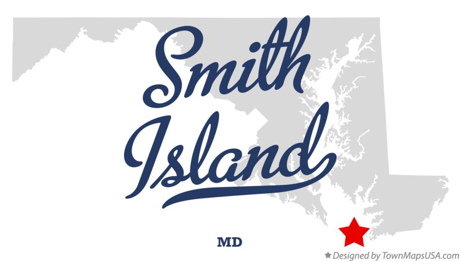 Map of Smith Island Maryland MD