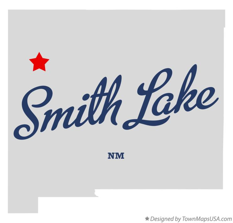 Map of Smith Lake New Mexico NM